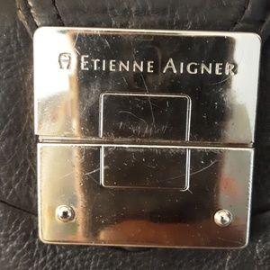 ETIENNE AIGNER BLACK LEATHER PURSE